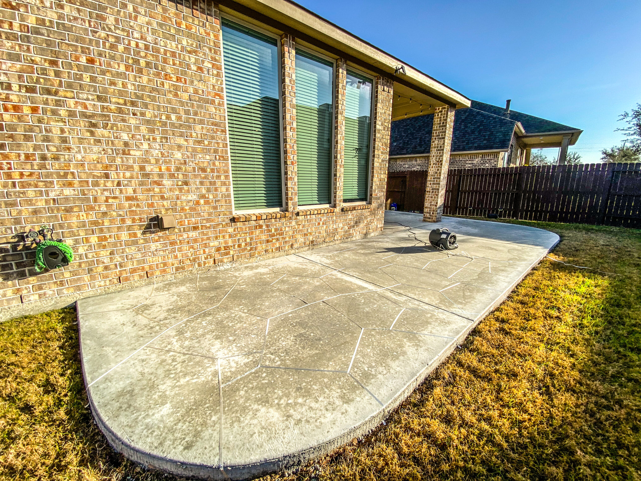 Houston Concrete Patio