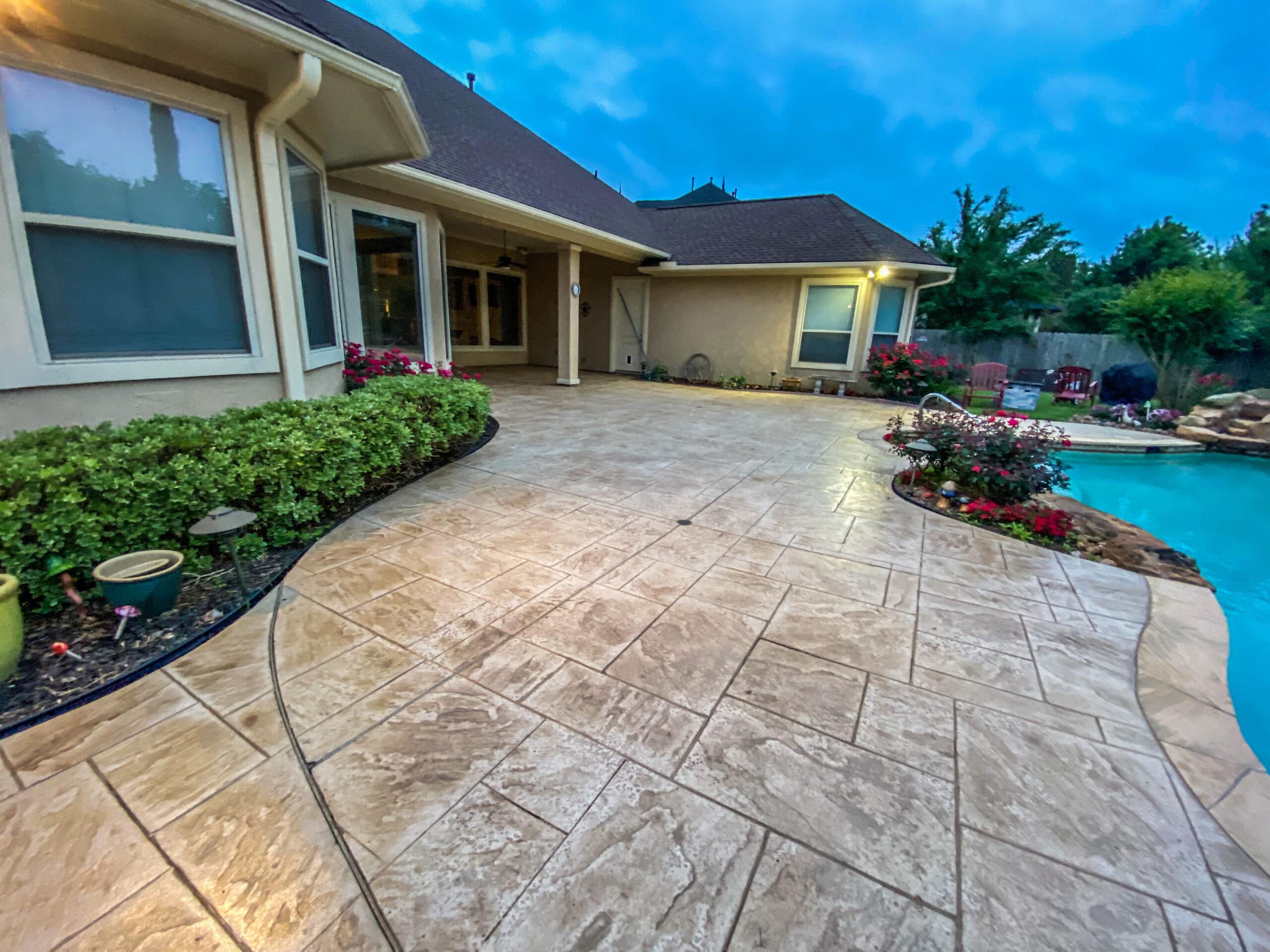 Slate Concrete Patio Sugar Land