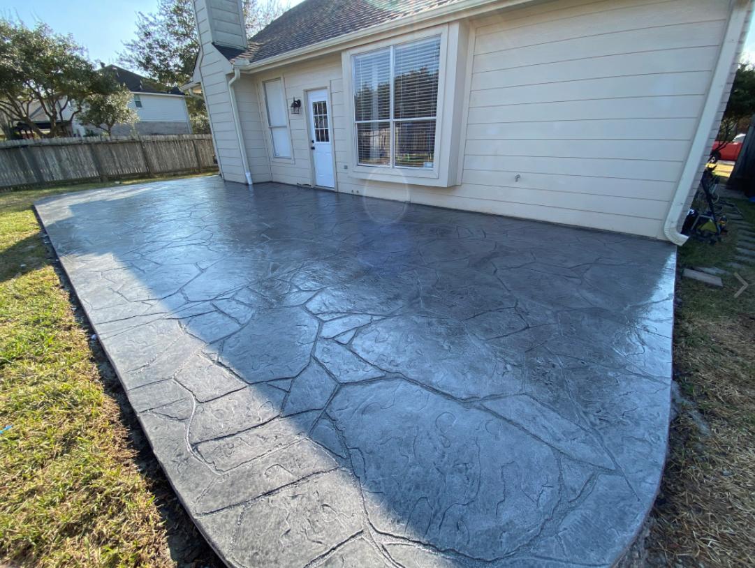 Katy Tx Stamped concrete